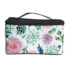 Hand Painted Spring Flourishes Flowers Pattern Cosmetic Storage Cases by TastefulDesigns