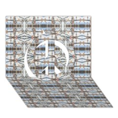 Geometric Diamonds Peace Sign 3d Greeting Card (7x5)  by yoursparklingshop