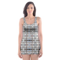 Geometric Diamonds Skater Dress Swimsuit