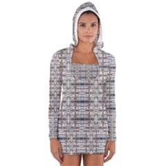 Geometric Diamonds Women s Long Sleeve Hooded T Shirt by yoursparklingshop