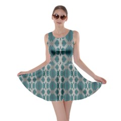 Tropical Blue Abstract Ocean Drops Skater Dress by yoursparklingshop