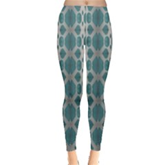 Tropical Blue Abstract Ocean Drops Leggings  by yoursparklingshop