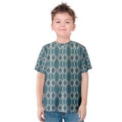 Tropical Blue Abstract Ocean Drops Kid s Cotton Tee by yoursparklingshop