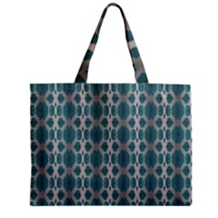 Tropical Blue Abstract Ocean Drops Zipper Mini Tote Bag by yoursparklingshop