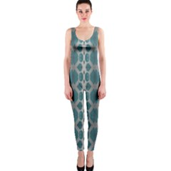 Tropical Blue Abstract Ocean Drops Onepiece Catsuit by yoursparklingshop