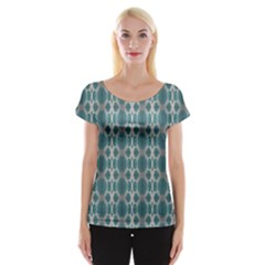 Tropical Blue Abstract Ocean Drops Women s Cap Sleeve Top by yoursparklingshop