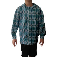 Tropical Blue Abstract Ocean Drops Hooded Wind Breaker (kids) by yoursparklingshop