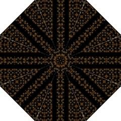 Dark Arabic Stripes Straight Umbrellas by dflcprints