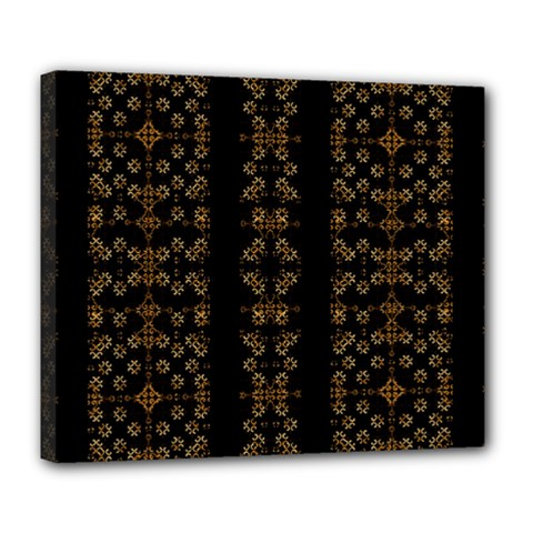 Dark Arabic Stripes Deluxe Canvas 24  x 20   by dflcprints