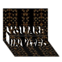 Dark Arabic Stripes You Are Invited 3d Greeting Card (7x5)