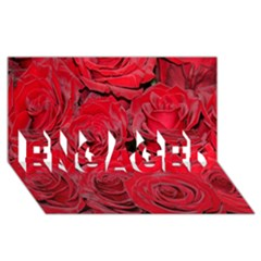 Red Roses Love Engaged 3d Greeting Card (8x4)  by yoursparklingshop
