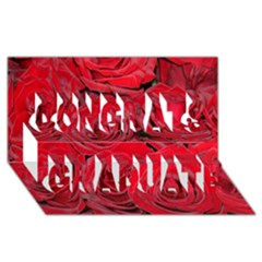 Red Roses Love Congrats Graduate 3d Greeting Card (8x4)  by yoursparklingshop