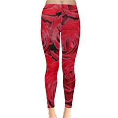 Red Roses Love Leggings  by yoursparklingshop
