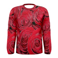 Red Roses Love Men s Long Sleeve Tee by yoursparklingshop