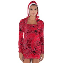 Red Roses Love Women s Long Sleeve Hooded T Shirt by yoursparklingshop