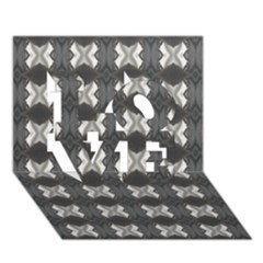 Black White Gray Crosses Love 3d Greeting Card (7x5)  by yoursparklingshop