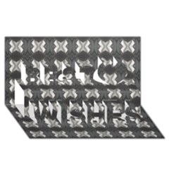 Black White Gray Crosses Best Wish 3d Greeting Card (8x4)