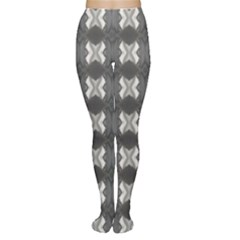Black White Gray Crosses Women s Tights by yoursparklingshop