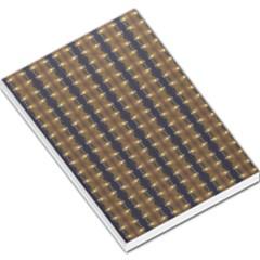 Black Brown Gold Stripes Large Memo Pads