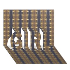 Black Brown Gold Stripes Girl 3d Greeting Card (7x5)  by yoursparklingshop