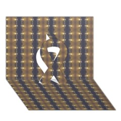 Black Brown Gold Stripes Ribbon 3d Greeting Card (7x5)  by yoursparklingshop