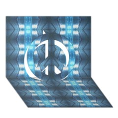 Blue Diamonds Of The Sea 1 Peace Sign 3d Greeting Card (7x5)