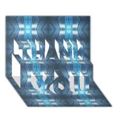 Blue Diamonds Of The Sea 1 Thank You 3d Greeting Card (7x5)