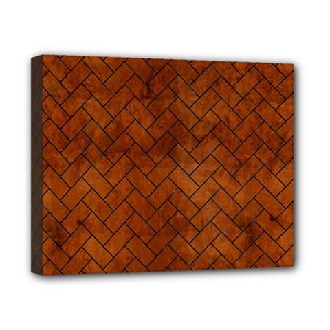 Brick2 Black Marble & Brown Burl Wood (r) Canvas 10  X 8  (stretched) by trendistuff