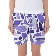 Silly Purples Women s Basketball Shorts by FunWithFibro