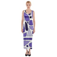 Silly Purples Fitted Maxi Dress by FunWithFibro