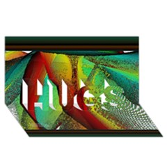 Stained Glass Window Hugs 3d Greeting Card (8x4)