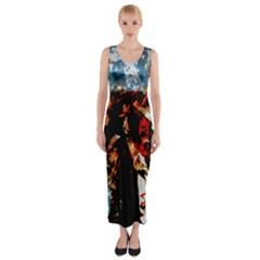China Girl  Fitted Maxi Dress by SugaPlumsEmporium