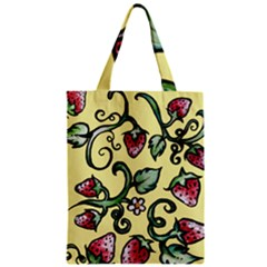 Strawberry Pattern Zipper Classic Tote Bag