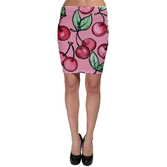 Cherry Pattern Bodycon Skirts