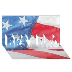 Folded American Flag Best Bro 3d Greeting Card (8x4)  by StuffOrSomething