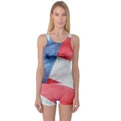 Folded American Flag One Piece Boyleg Swimsuit by StuffOrSomething