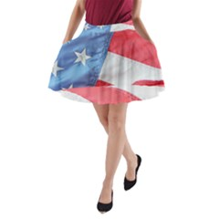 Folded American Flag A Line Pocket Skirt by StuffOrSomething