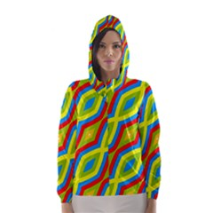 Colorful chains                    Hooded Wind Breaker (Women) by LalyLauraFLM
