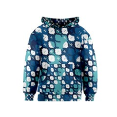 Blue texture                       Kid s Pullover Hoodie by LalyLauraFLM