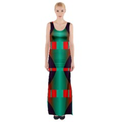 Vertical Stripes And Other Shapes                        Maxi Thigh Split Dress by LalyLauraFLM