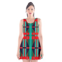 Vertical stripes and other shapes                        Scoop Neck Skater Dress by LalyLauraFLM