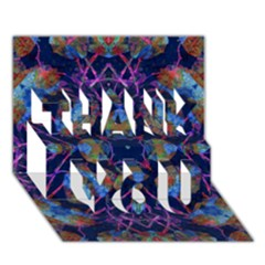 Ornate Mosaic Thank You 3d Greeting Card (7x5)  by dflcprints