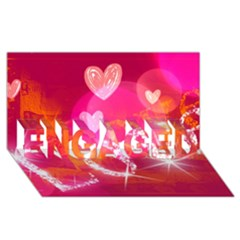Love Engaged 3d Greeting Card (8x4)  by SugaPlumsEmporium