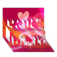 Love You Did It 3d Greeting Card (7x5)