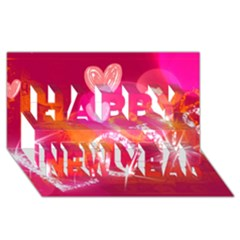 Love Happy New Year 3d Greeting Card (8x4)  by SugaPlumsEmporium