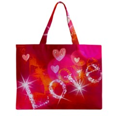 Love Zipper Mini Tote Bag by SugaPlumsEmporium