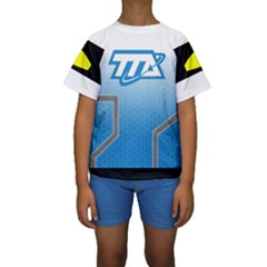 Miles From Tomorrowland Kid s Short Sleeve Swimwear by rocketmommy