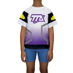 Loretta - Miles From Tomorrowland Kid s Short Sleeve Swimwear by rocketmommy