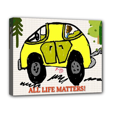 All Life Matters! Deluxe Canvas 20  X 16   by SugaPlumsEmporium