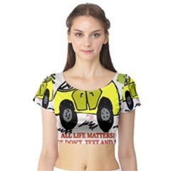 All Life Matters! Short Sleeve Crop Top (tight Fit) by SugaPlumsEmporium